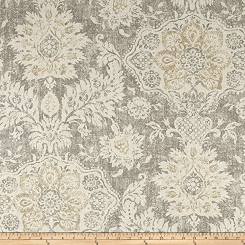 Magnolia Home Fashions Belmont Mist Fabric By The Yard (Medium Weight Upholstery Fabric)