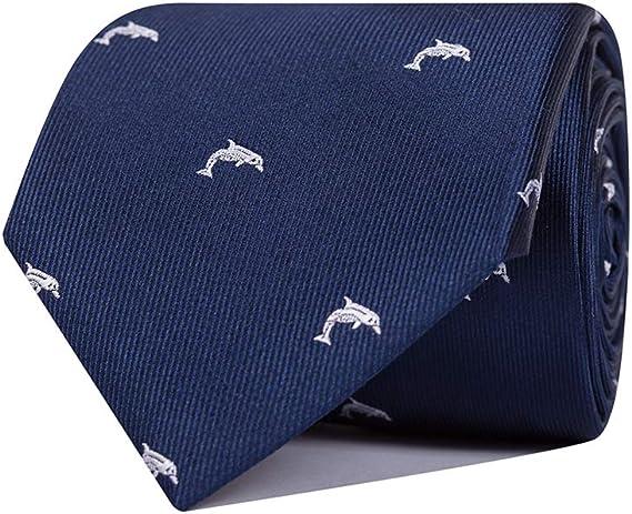 SoloGemelos - Corbata De Seda Azul Delfines - Azul, Blanco ...