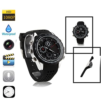 omoup HD reloj espía impermeable Spy Watch cámara video videocámara 16 GB