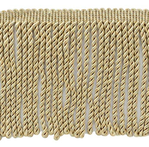 (DÉCOPRO 5 Yard Value Pack - 6 Inch Long|Oyster, Kasha, Shell, Sandstone Bullion Fringe Trim|Style# BFS6|Color: PR01 - Dreamsicle (15 Ft / 4.6 Meters))