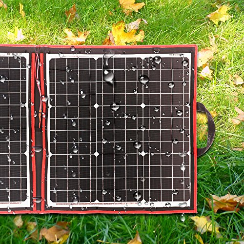 DOKIO 100 Watts 12 Volts Monocrystalline Foldable Solar Panel with Charge Controller by DOKIO (Image #4)