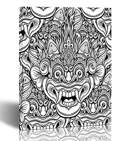 Amazon.com: Emvency Painting Wall Art Canvas Print Square 20x30 ...