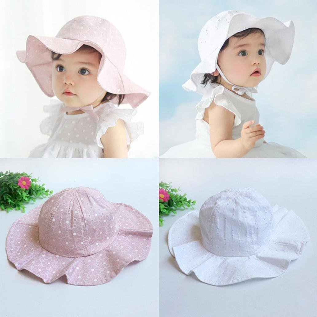 Xshuai Baby Hat for 1-4 Years Old Kids Fashion Toddler Infant Kids Sun Cap Summer Outdoor Baby Girls Boys Sun Beach Cotton Hat