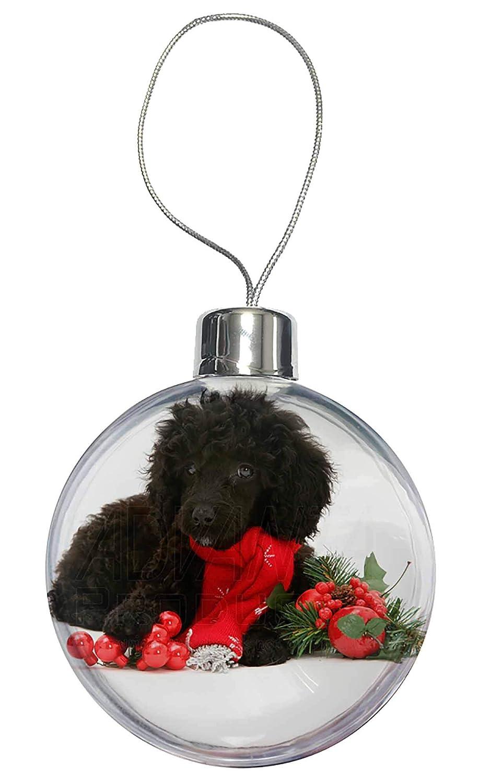 Pet Trim Poodle Glitter Christmas Decoration 11 colour choices.
