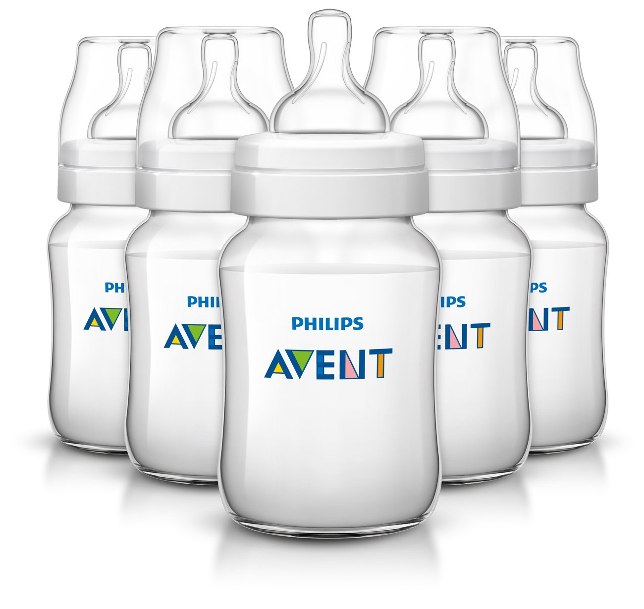 Philips Avent Classic Plus Baby Bottles, 9 Ounce (5 Pack)