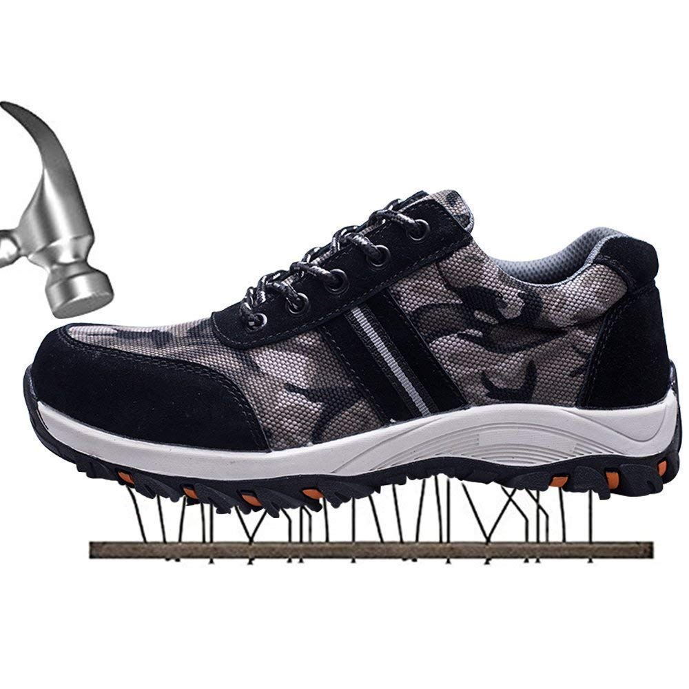 fee3bcad2f4 Steerfr Womens Mens Steel Toe Safety Shoes Work Trainers Flyknit ...