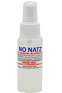 No Natz Insect and Bug Protection, 2oz Spray, All-Natural and Deet-
