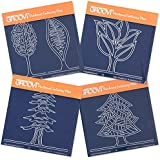 Groovi Baby Plates - Abstract Trees (Set of 4) by Groovi