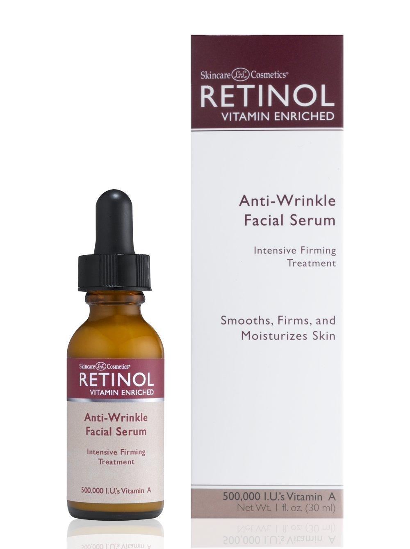 Skincare LdeL Cosmetics, Retinol Enriched Anti-Wrinkle Facial Serum, 1-Ounce Bottle