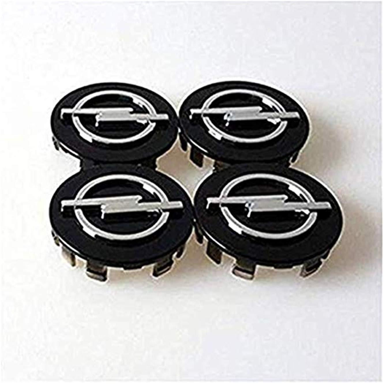 fanlinxin 4 Piezas 58 mm Negro Logo Opel Coche Emblema de la ...