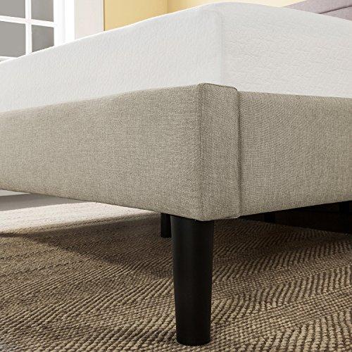 home, kitchen, furniture, bedroom furniture, beds, frames, bases,  beds 10 on sale Zinus Mckenzie Upholstered Detailed Platform Bed / Mattress Foundation promotion