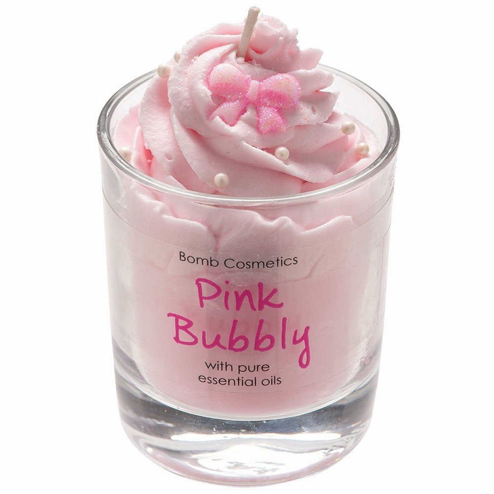 Piped Candle by Bomb Cosmetics Pink Bubbly
