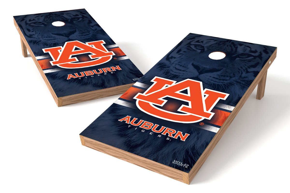Wild Sports NCAA College Auburn Tigers 2' x 4' Authentic Cornhole Game Set