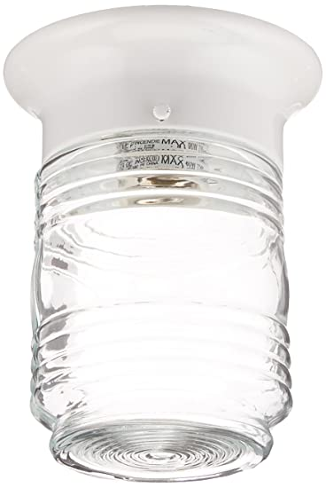 Boston Harbor HV 66919 WH 3L Porch Light Jelly Jar White