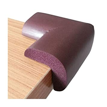 table edge guard. comicfs thick baby safety softener table edge guard protector / corner cushions, brown, 8pcs