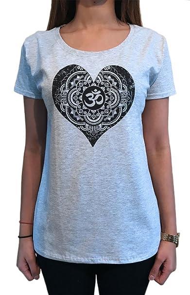 Irony Camiseta de Mujer Buda Om Asum Yoga Corazón Meditación Chakra Zen Paz TS1097: Amazon.es: Ropa y accesorios
