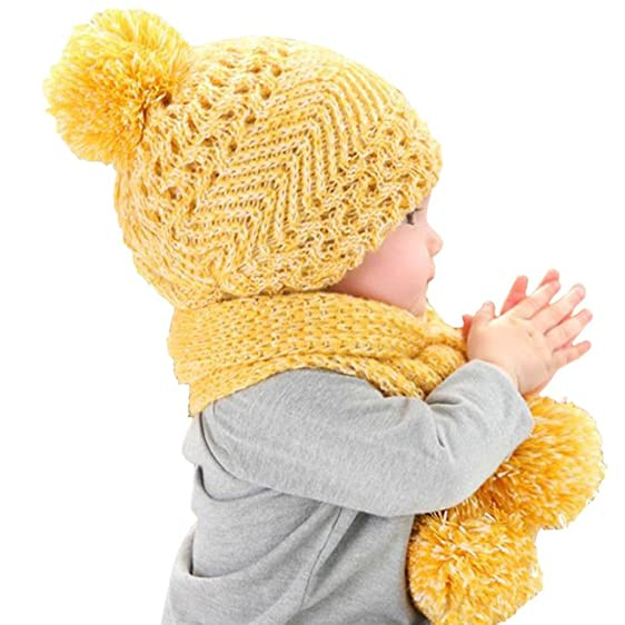 Amazon Dzt1968 Baby Crown Thick Knit Wool Warm Hood Long Scarf