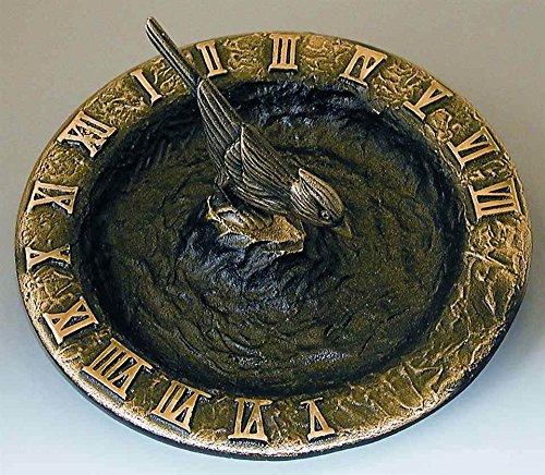 Rome RM2322 Antique Brass Birdbath Sundial ()