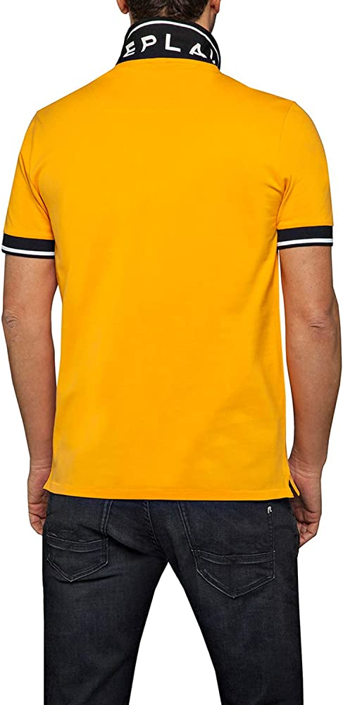REPLAY Mens Polo T-Shirt Yellow in Size Large: Amazon.es: Ropa y ...