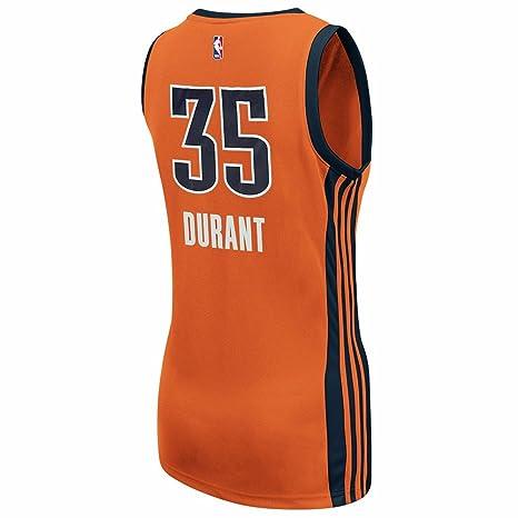 Adidas Kevin Durant Oklahoma City Thunder NBA Naranja Oficial suplente réplica de la Camiseta para Mujer