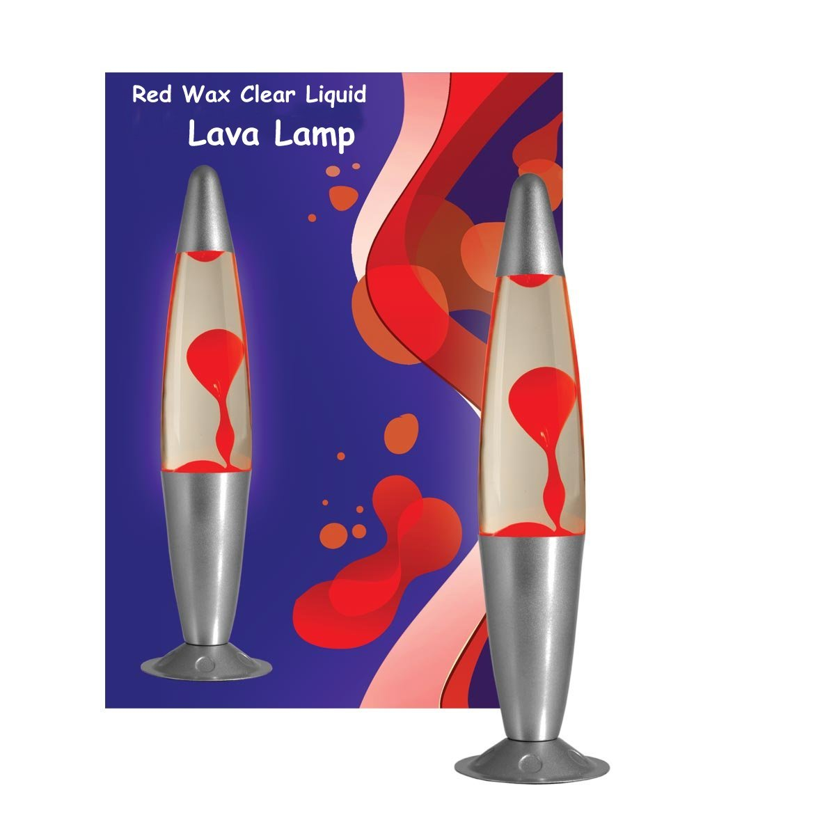 Red Clear Lava Motion Lamp