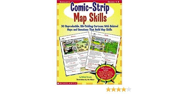 Amazon.com: Comic-Strip Map Skills, Grades 4-8 (9780439215572 ...