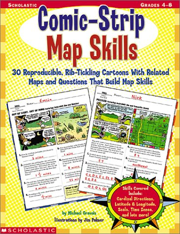 Amazon.com: Comic-Strip Map Skills, Grades 4-8 (9780439215572 ...