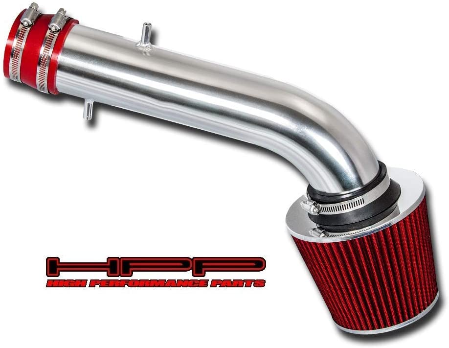 High Performance Parts Short Ram Air Intake Kit /& Red Filter Combo Compatible for 2006-2008 Honda Fit//Jazz 1.5L L4 Engine