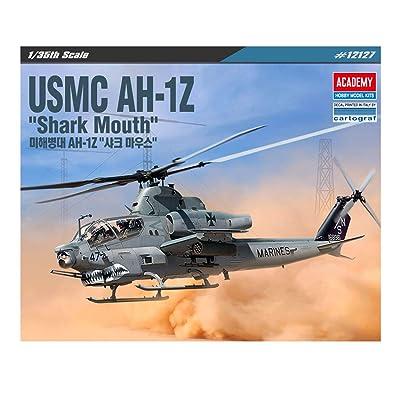 ACA12127 1:35 Academy USMC AH-1Z Cobra 'Shark Mouth' [Model Building KIT]: Toys & Games