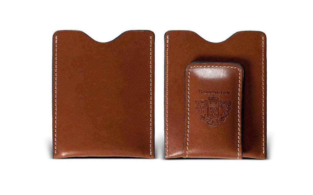 Barrington Florentine Leather Money Clip (British Tan) Harness, Personalization Available by Barrington Gifts