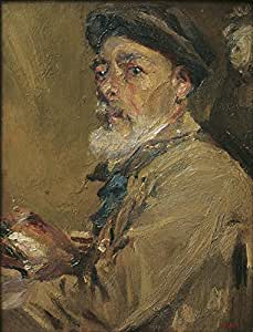 Francesc Gimeno - Self-Portrait with Cap - Extra Large - Matte - Black Frame