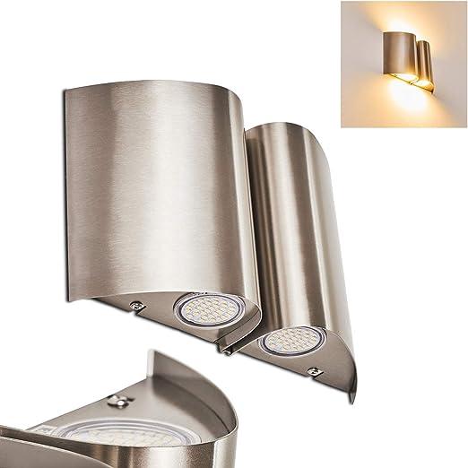 LED Aplique de exterior Cornus acero inoxidable - Aplique LED para patio - veranda - terrazas - jardín: Amazon.es: Iluminación
