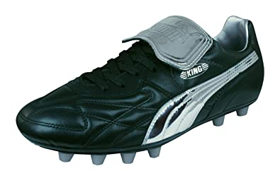 9ff221bf05c8e4 Puma King Top MII Chrome FG Football Boots - Black Silver  Amazon.co.uk   Shoes   Bags
