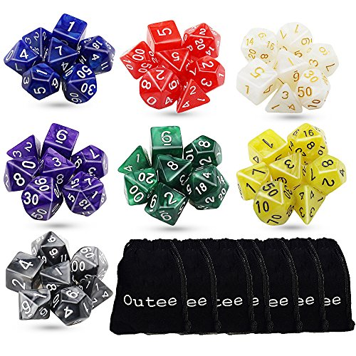 Outee Polyhedral Dungeons Dragons Pouches