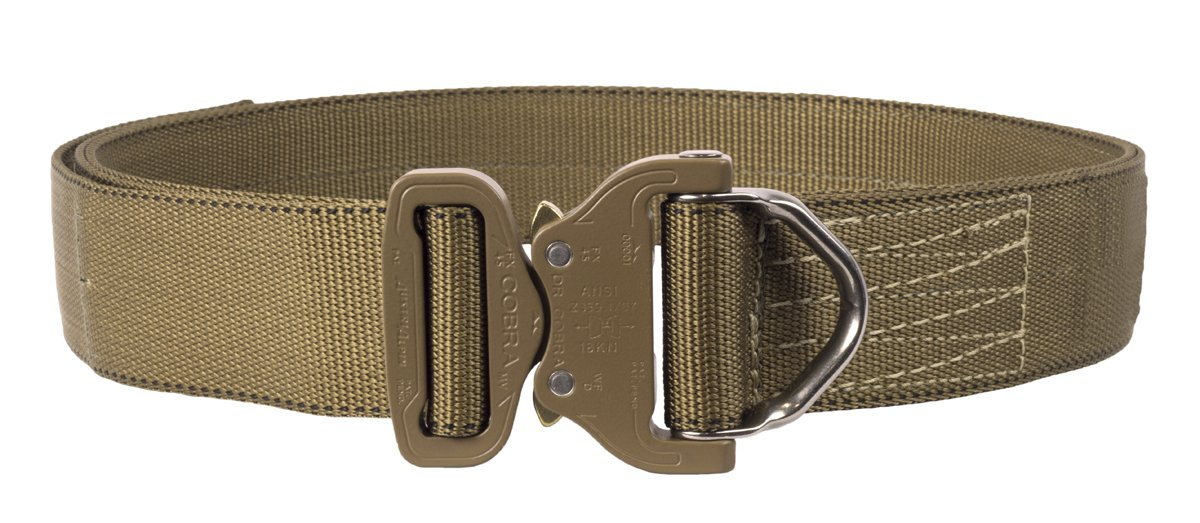 Elite Survival Systems ELSCRB-T-M Cobra Rigger's with D Ring Buckle Belt, Coyote Tan, Medium