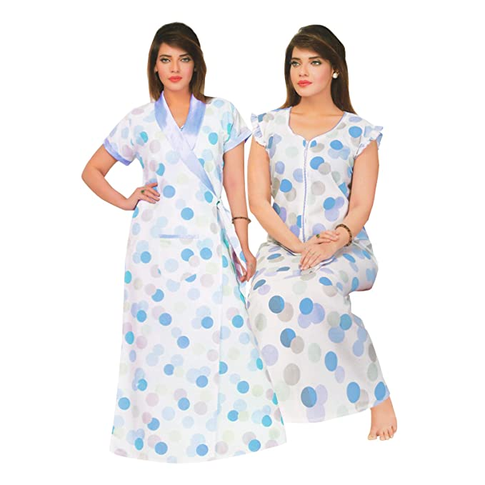 LADIES 100/% COTTON LONG NIGHTDRESS NIGHTY CHEMISE EMBROIDERY DETAILED SIZE 22-32