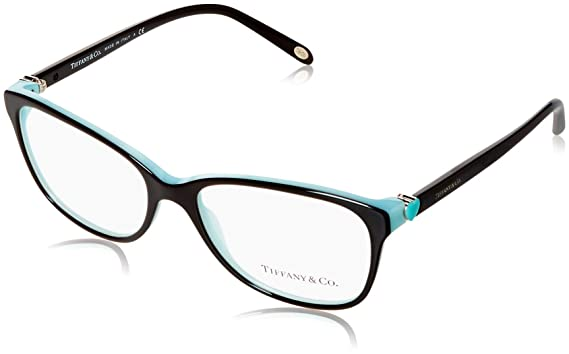 60a64918ca Amazon.com  Tiffany   Co. TF2097 - 8055 Eyeglass BLACK BLUE W  Clear ...