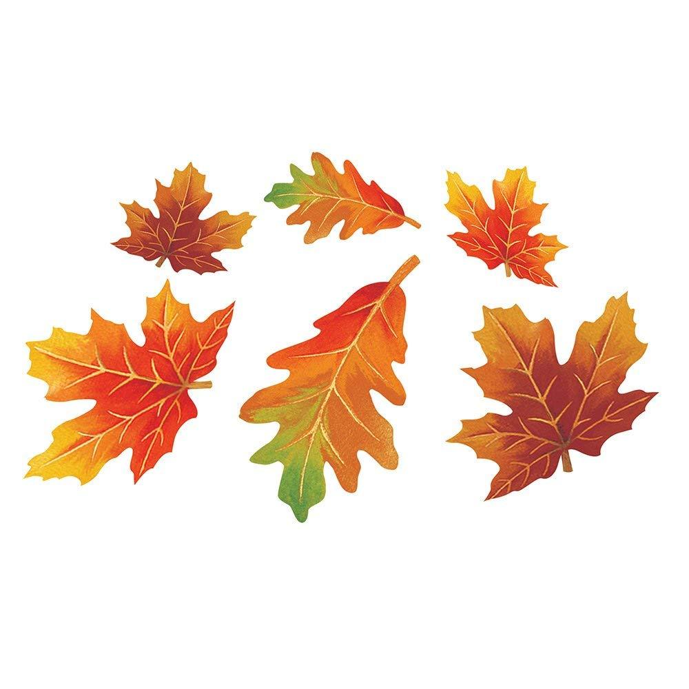 Creative Converting 990201 144 Count Decorative Cutout Assortment, Fall Paper Leaves (Renewed)