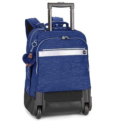 Kipling NEW RUNNER L - Mochila con ruedas, Unisex adulto, Azul - (COBALT