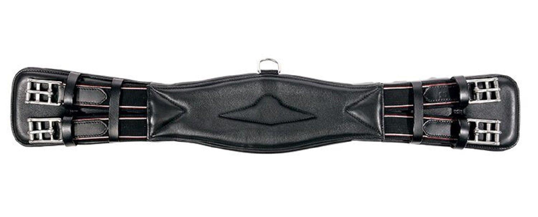 Black 40 Cm Black 40 Cm KAVALKADE Leather Saddle in Soft Elastic On Both Sides