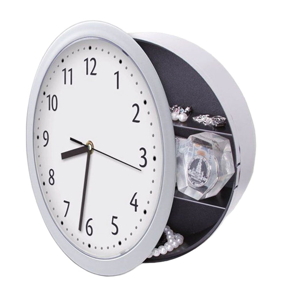Clock Safe Hidden Wall Secret Jewelry Security Money Cash Compartment Stash Box West Lake