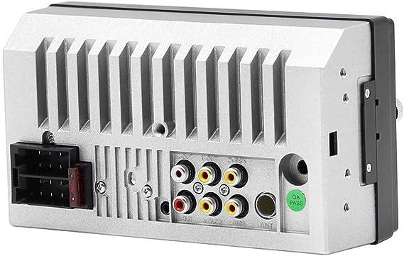 con 4 LED Camara SODIAL 7023B 2 DIN Reproductor de Audio Multimedia de Coche Reproductor MP5 HD 5 de Pantalla tactil de 7 Pulgadas de Radio Estereo Soporte Bluetooth FM Camara USB Aux