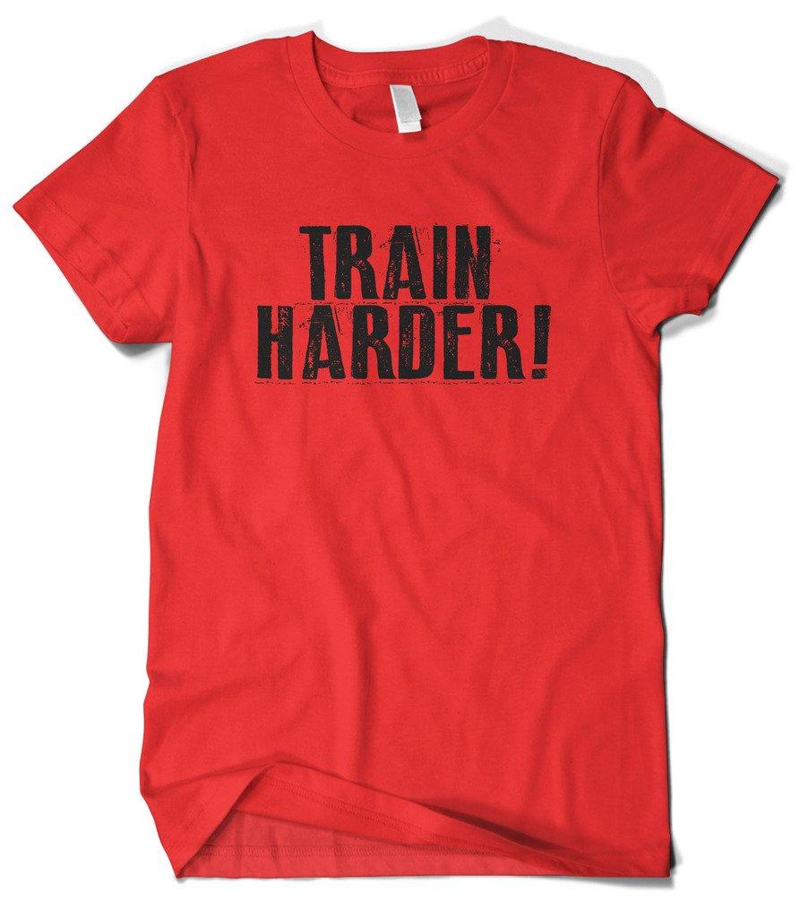 S Train Harder Workout Gym Tshirt
