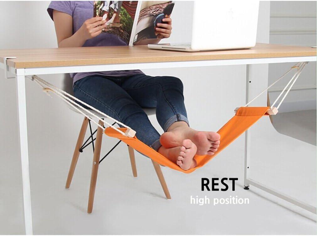 Pinke Foot Rest Hamaca Portable Mini Office Soporte Ajustable para el pie Debajo del Escritorio para el hogar Oficina Relaxing