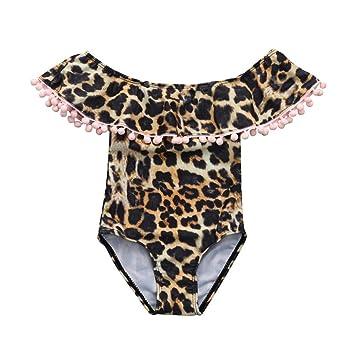 attraktive Designs kauf verkauf riesiges Inventar Baby Mädchen Badeanzug Leopard Printed One Piece: Amazon.de ...