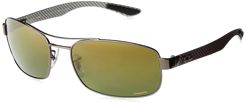 ce735ef810c71 Amazon.com  Ray-Ban Men s RB8318CH Chromance Lens Rectangular Metal  Sunglasses