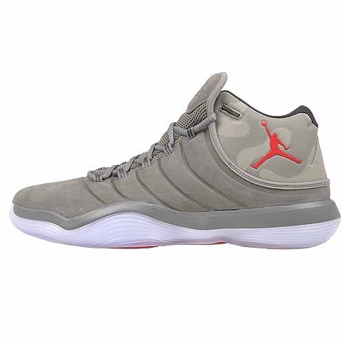 Zapatillas Jordan - Super.Fly 2017 Gris/Verde/Rojo Talla: 43: Amazon.es: Zapatos y complementos