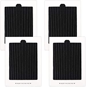 4 Pack Refrigerator Air Filter Electrolux Frigidaire Pure Air Ultra Refrigerator Air Filters Replacement frigidaire air filter, replaces SCPUREAIR2PK,EAFCBF PAULTRA PureAir Ultra 242061001,2420478