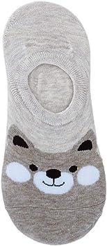 4 par de calcetines tobilleros mujeres, cómodas zapatillas de ...