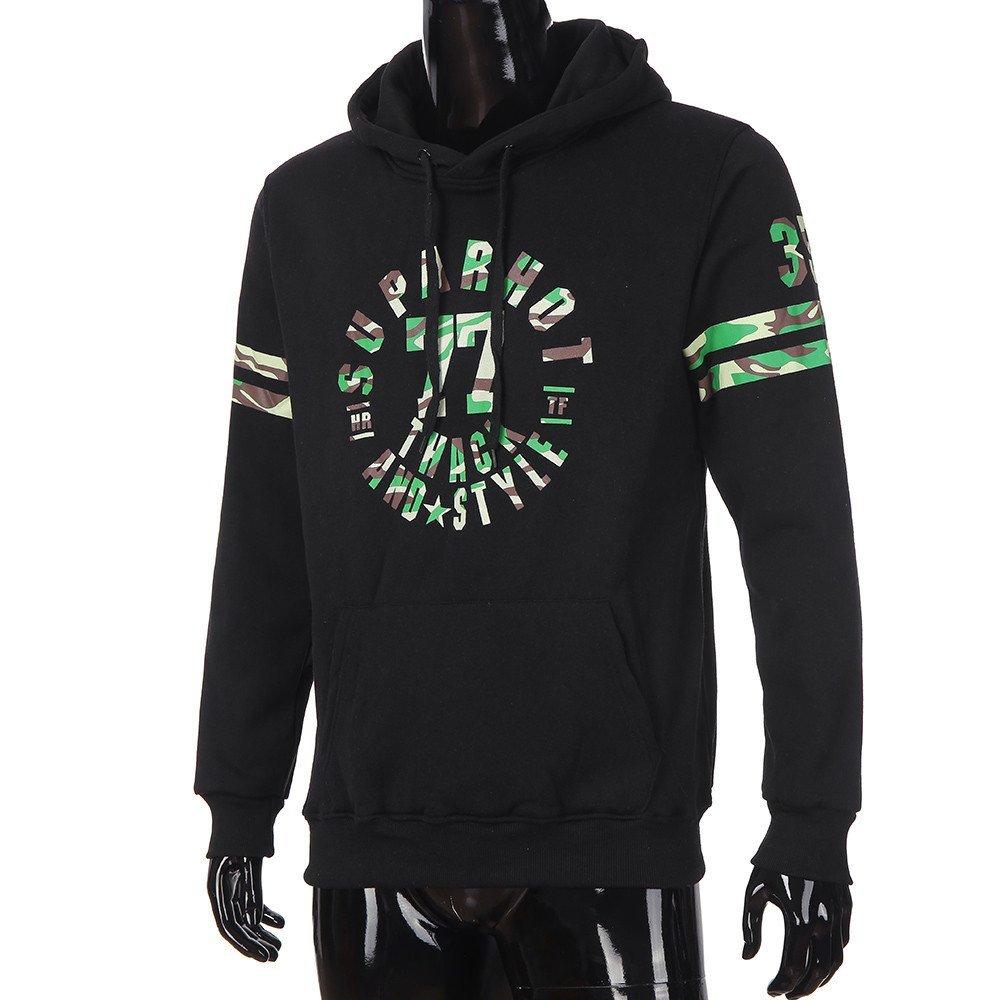 Autumn Casual Letter Printed Hooded Sweatshirt Outwear Tops Blouse Fenleo Mens Hoodie